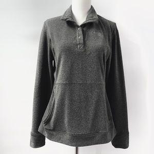 North Face Women's Medium Gray Fleece Pullover
